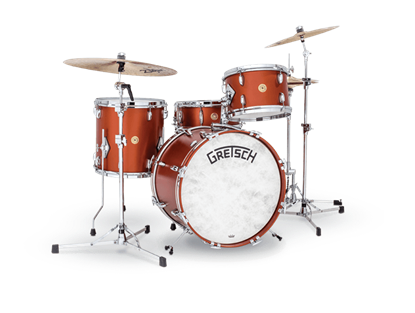 Gretsch Standard Broadkaster 4-Piece w 20 Inch Kick Jazz Drumkit - Satin Copper