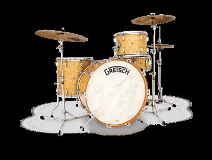 Picture of Gretsch Standard Broadkaster 4-Piece w 22 Inch Kick Heritage Drumkit - Antique Pearl