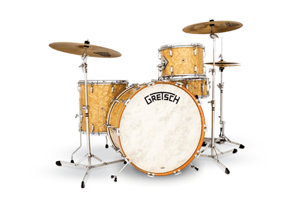 Picture of Gretsch Vintage Broadkaster - 4 Piece w 22 Inch Kick Heritage Drumkit - Antique Pearl
