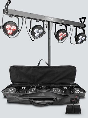 Picture of Chauvet 4BAR LT USB Wash Lighting Pack Incl Tripod, Carry Bag, Footswitch