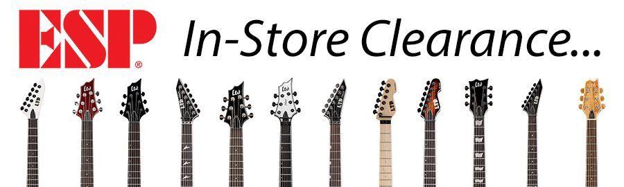 ESP Guitar In-Store Clearance