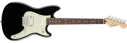 Fender Offset Duo-Sonic Electric Guitar HS PF, Black