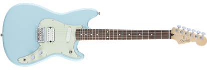 Fender Offset Duo-Sonic Electric Guitar HS PF, Daphne Blue