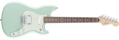 Fender Offset Duo-Sonic Electric Guitar HS PF, Surf Green