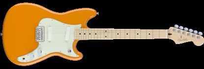 Fender Offset Duo-Sonic Electric Guitar MN, Capri Orange