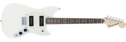 Fender Offset Mustang 90 Electric Guitar PF, Olympic White