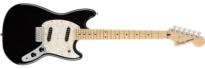 Fender Offset Mustang Electric Guitar MN, Black
