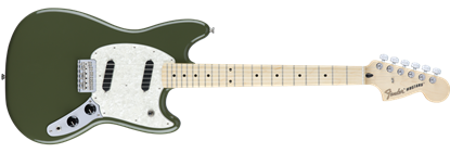 Fender Offset Mustang Electric Guitar MN, Olive