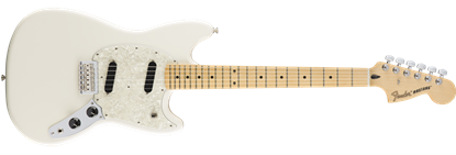 Fender Offset Mustang Electric Guitar MN, Olympic White