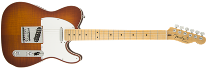 Fender Custom Shop 2015 Flame Maple Top American Custom Telecaster Electric Guitar MN, Violin Burst