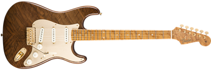 Fender Custom Shop Claro Walnut Artisan Stratocaster Electric Guitar, Roasted Butternut w/ Claro Walnut Top