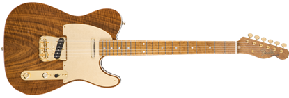Fender Custom Shop Claro Walnut Artisan Telecaster Electric Guitar, Roasted Butternut w/ Claro Walnut Top