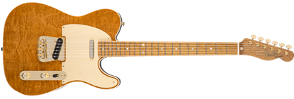 Fender Custom Shop Figured Mahogany Artican Telecaster Electric Guitar, Roasted Okume w/ Figured Mahogany Top