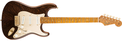 Fender Custom Shop Figured Rosewood Artisan Stratocaster Electric Guitar, Roasted Fiji Mahogany w/ Figured Rosewood Top