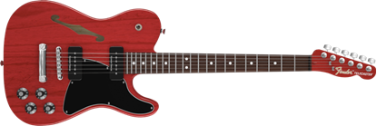 Picture of Fender Jim Adkins JA-90 Telecaster Thinline RW, Crimson Red Transparent