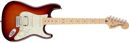 Picture of Fender Deluxe Stratocaster HSS MN, Tobacco Sunburst