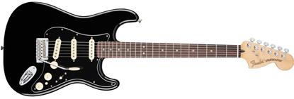Fender Deluxe Stratocaster Electric Guitar - Pau Ferro Fretboard -Black