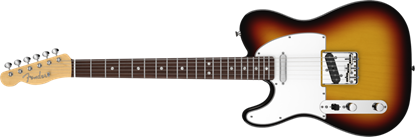 Fender American Vintage '64 Telecaster Left Handed Electric Guitar RW, 3-Colour Sunburst