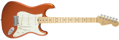 Fender American Elite Stratocaster Electric Guitar MN, Autumn Blaze Metallic