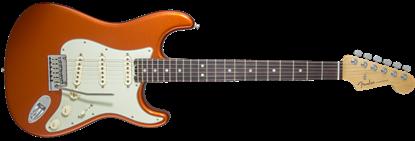 Fender American Elite Stratocaster Electric Guitar RW, Autumn Blaze Metallic