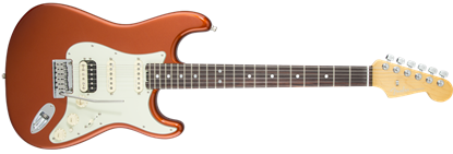 Fender American Elite Stratocaster HSS Shawbucker RW, Autumn Blaze Metallic