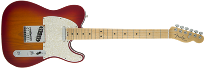 Picture of Fender American Elite Telecaster Electric Guitar MN, Aged Cherry Burst