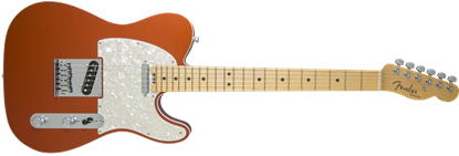 Picture of Fender American Elite Telecaster Electric Guitar MN, Autumn Blaze Metallic