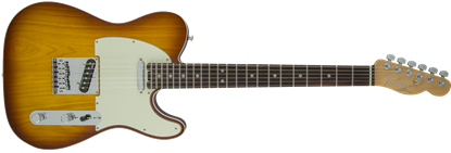 Picture of Fender American Elite Telecaster Electric Guitar RW, Tobacco Sunburst