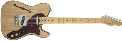 Picture of Fender American Elite Telecaster Thinline Electric Guitar MN, Natural