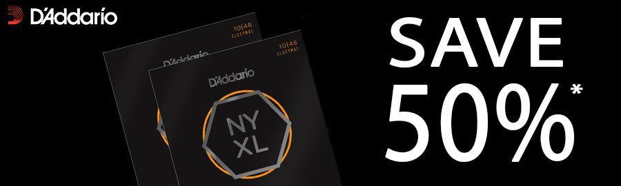 Save 50% on 2 Sets of D'Addario NYXL