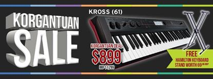 Picture of Korg KROSS 61-Key Workstation Synthesizer w FREE Stand