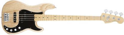 Fender American Elite Precision Bass Guitar Ash Body MN, Natural