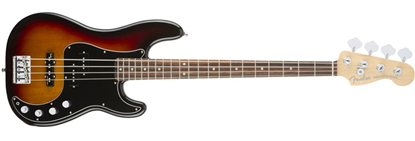 Fender American Elite Precision Bass Guitar RW, 3-Colour Sunburst