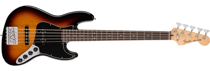 Fender Deluxe Active Jazz Bass Guitar V MN, 3-Colour Sunburst (5-String)