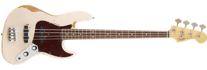 Fender Flea Jazz Bass Guitar Roadworn RW, Faded Shell Pink