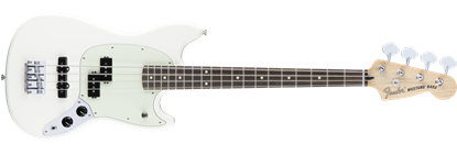 Fender Offset Mustang PJ Bass Guitar RW, Olympic White