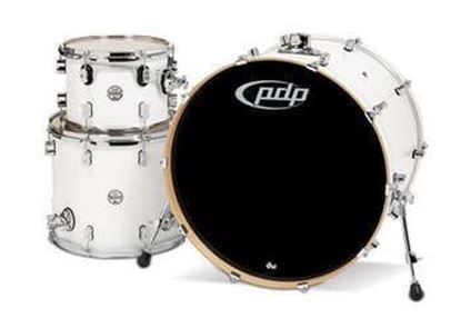 PDP Concept Maple 3 Piece Drum Kit finished in Pearlescent White Lacquer