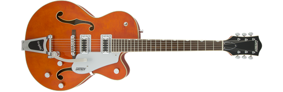 Gretsch G5420T Electromatic Single Cutaway Hollow Body Electric Guitar with Bigsby - Orange Stain
