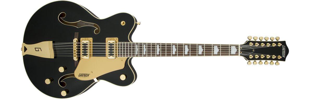 gretsch g5422g 12 electromatic double cutaway 12 string hollow body electric guitar black w. Black Bedroom Furniture Sets. Home Design Ideas