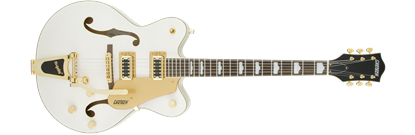 Gretsch G5422TG Electromatic Double Cutaway Hollow Body Electric Guitar with Bigsby - Snow Crest White w/ Gold Hardware