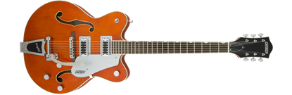 Gretsch G5422T Electromatic Double Cutaway Hollow Body Electric Guitar with Bigsby - Orange Stain