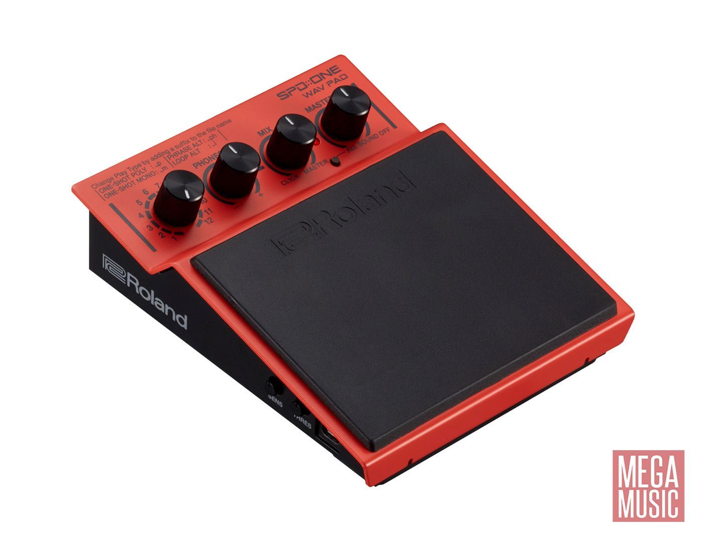Roland SPD ONE WAV PAD Percussion Pad - angle view