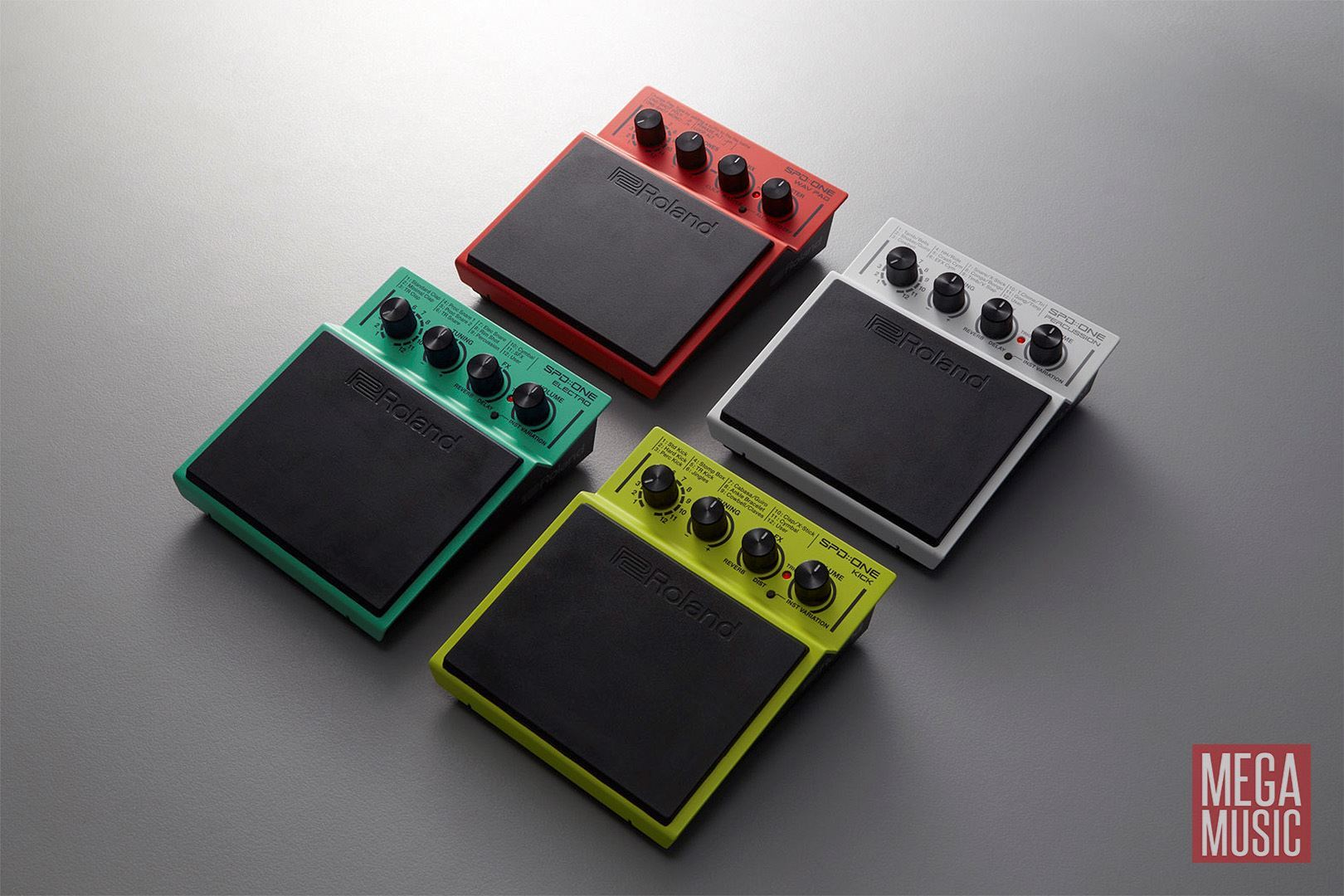 Roland SPD ONE WAV PAD Percussion Pad - all four models shown