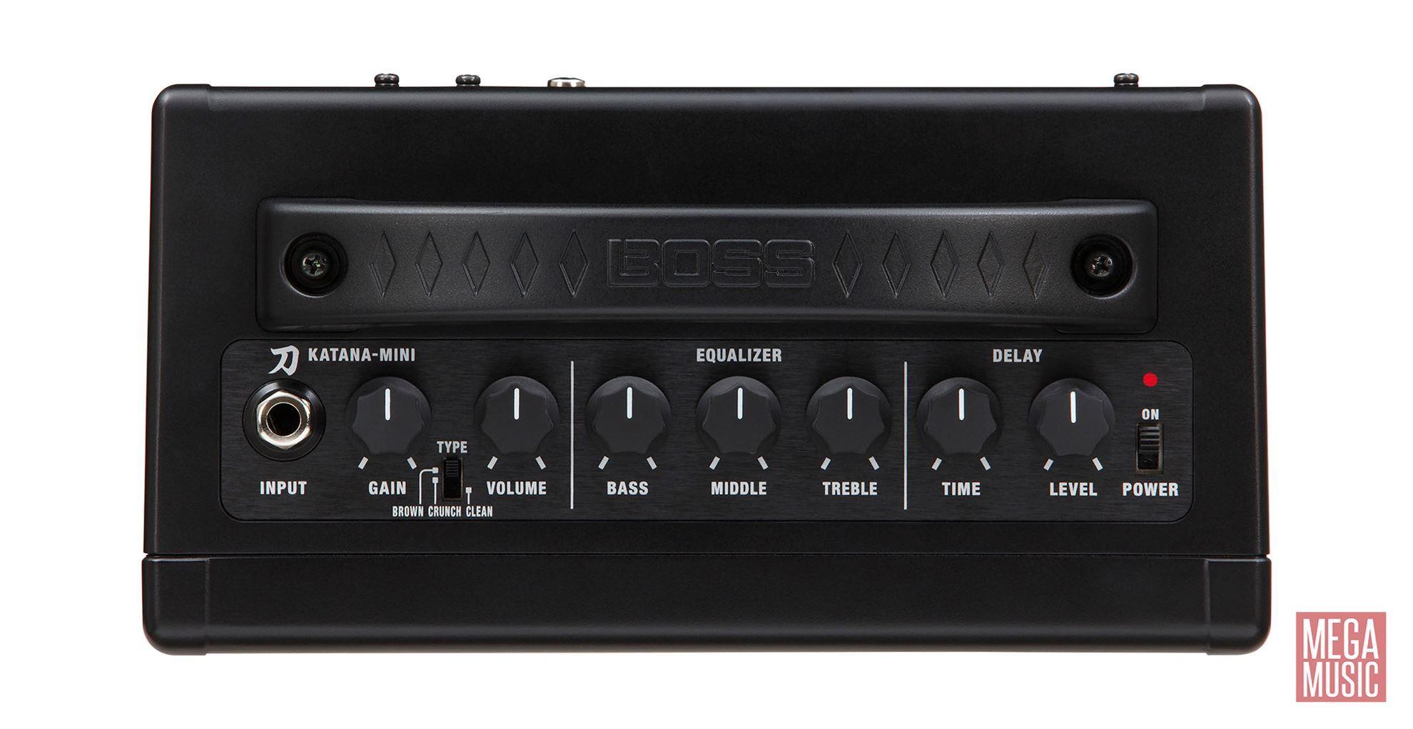 BOSS Katana-Mini Guitar Amplifier - top view