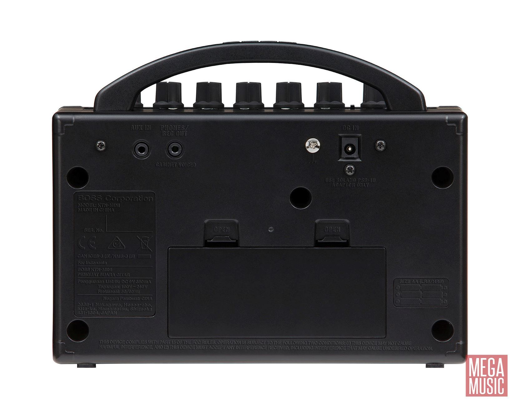 BOSS Katana-Mini Guitar Amplifier - rear view