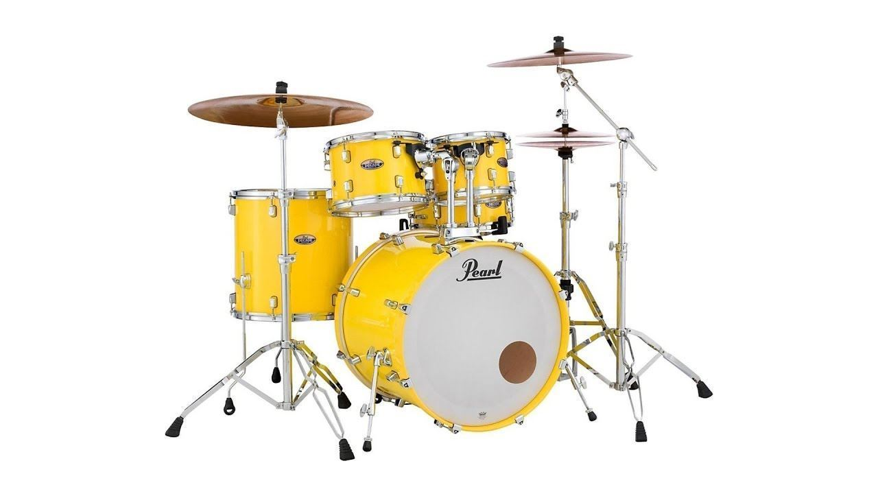 Pearl Decade Maple Fusion Plus 5 Piece Drum Kit Solid Yellow