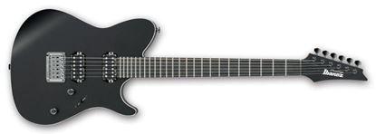 Picture of Ibanez FR6UC BKF Prestige Uppercut Electric Guitar Black Flat