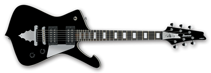 Ibanez PSM10-BK Paul Stanley Signature Electric Guitar Mikro Black