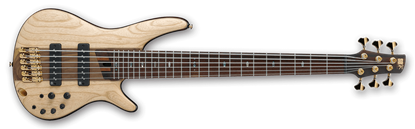 Ibanez SR1306 NTF Premium 6-String Bass Guitar W/case In Natural Flat Finish