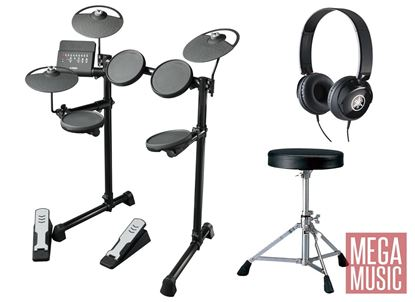 Yamaha DTX400K Electronic Drum Kit with stool and headphones